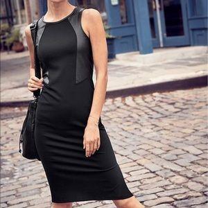 Athleta | black ponte night on the town dress